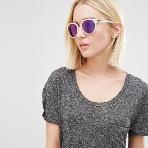 48de21051 Calvin Klein Jeans Accessories - Calvin Klein Jeans Round Sunglasses with  Brow Bar